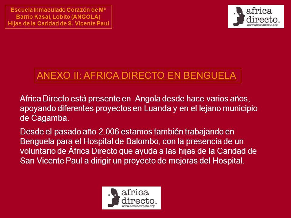ANEXO II: AFRICA DIRECTO EN BENGUELA