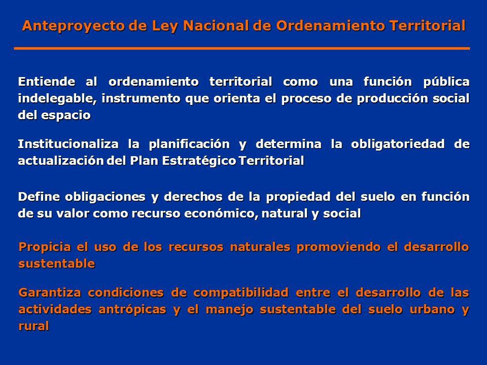 Anteproyecto de Ley Nacional de Ordenamiento Territorial
