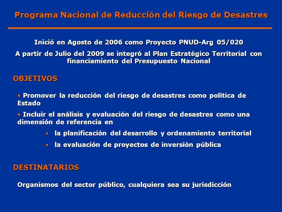 Programa Nacional de Reducción del Riesgo de Desastres
