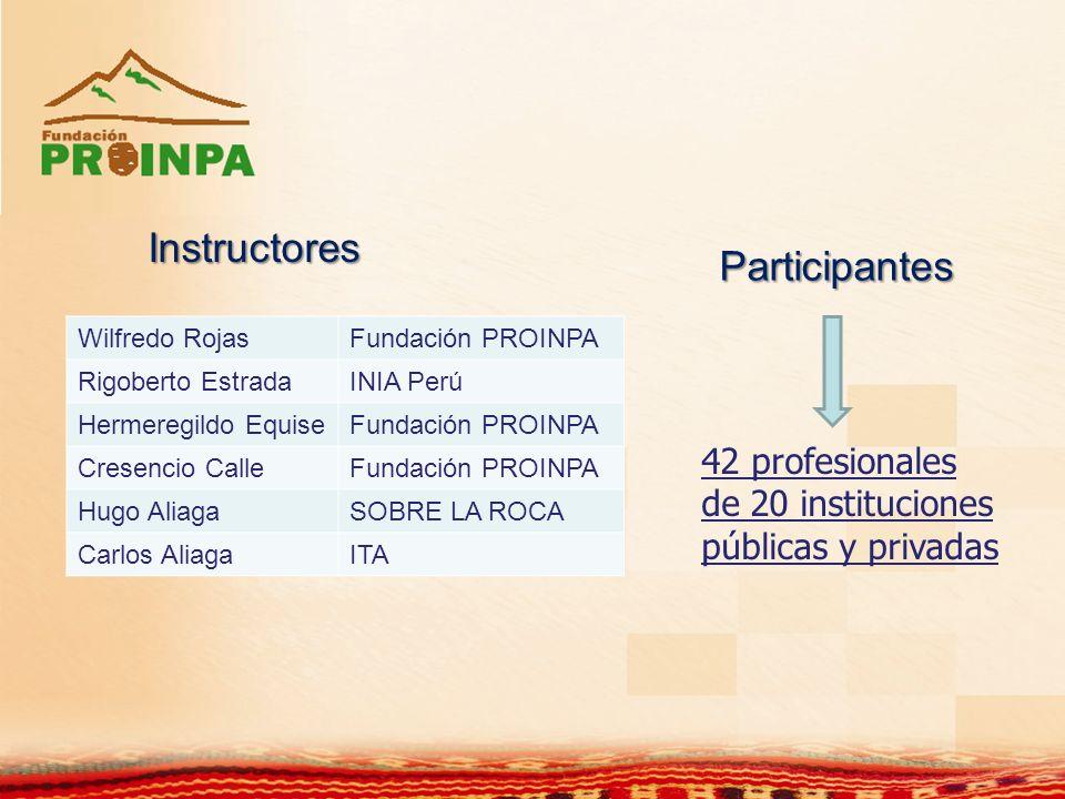 Instructores Participantes