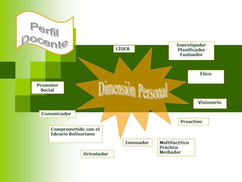 Perfil Docente Dimensiòn Personal Investigador Planificador Evaluador