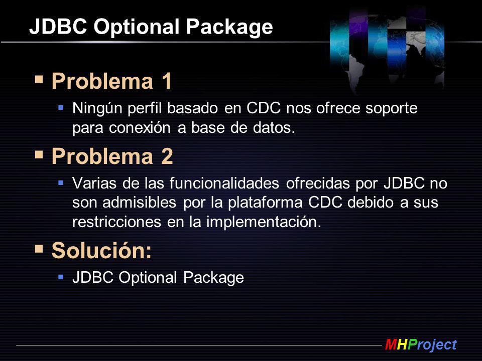 Problema 1 Problema 2 Solución: JDBC Optional Package