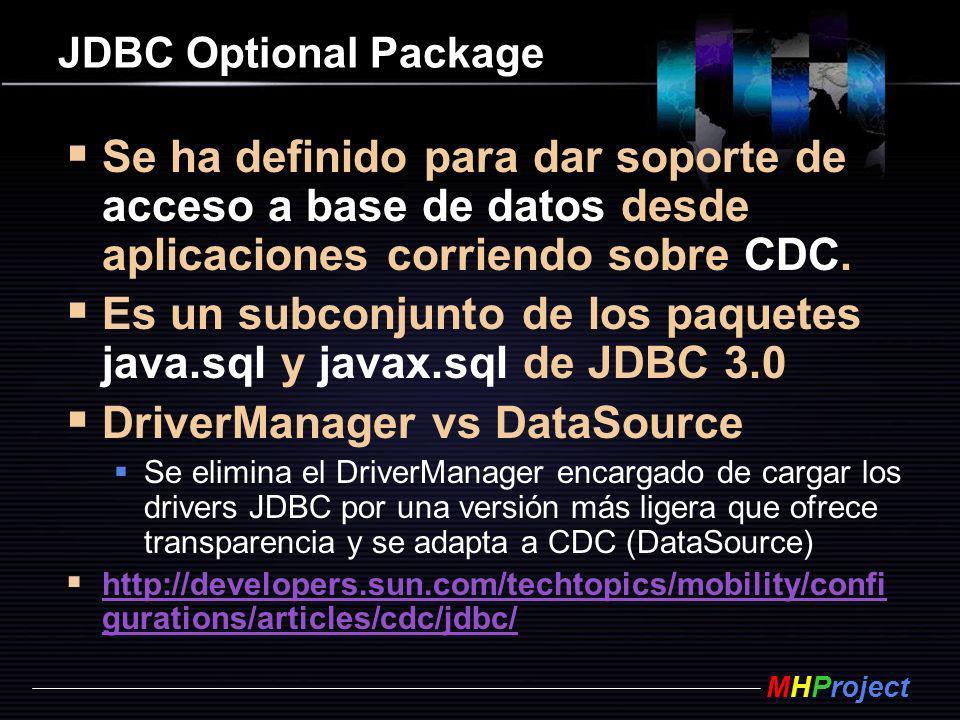 Es un subconjunto de los paquetes java.sql y javax.sql de JDBC 3.0