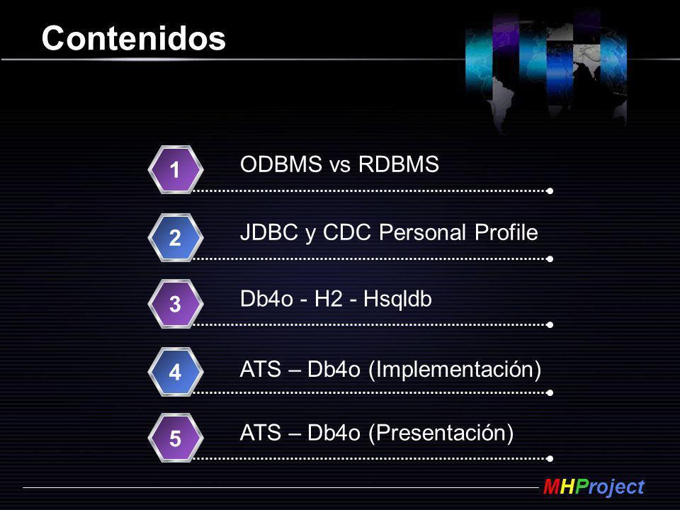 Contenidos ODBMS vs RDBMS 1 JDBC y CDC Personal Profile 2