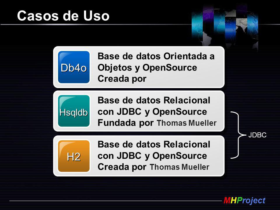 Casos de Uso Db4o H2 Base de datos Orientada a Objetos y OpenSource