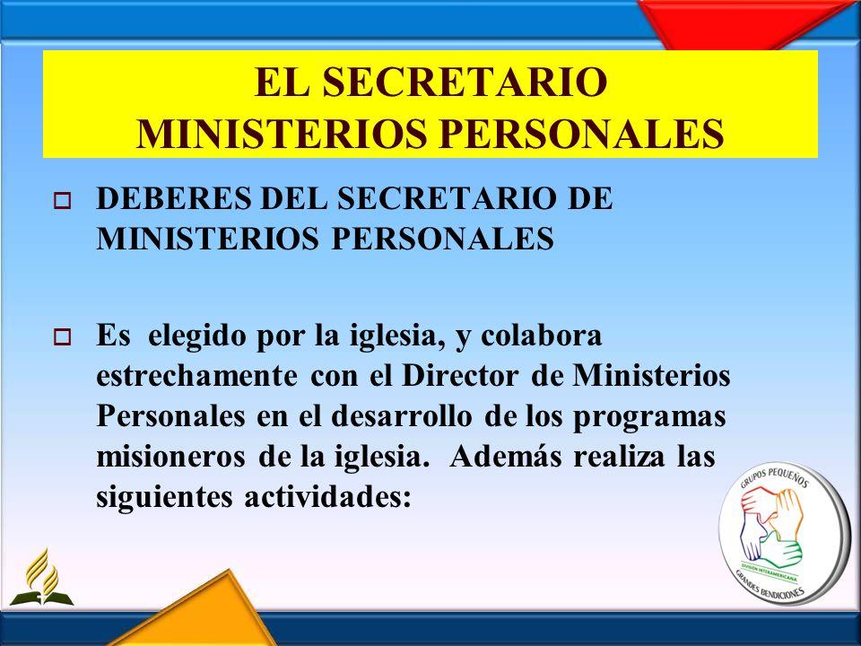 EL SECRETARIO MINISTERIOS PERSONALES