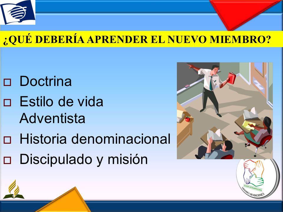 Estilo de vida Adventista Historia denominacional Discipulado y misión
