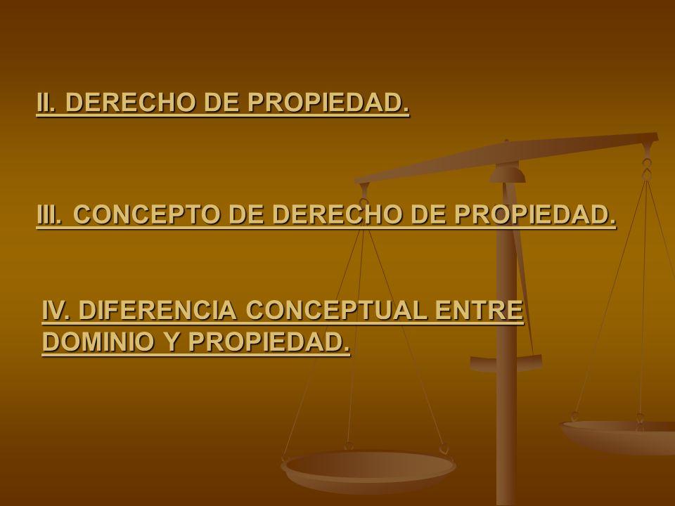 II. DERECHO DE PROPIEDAD.