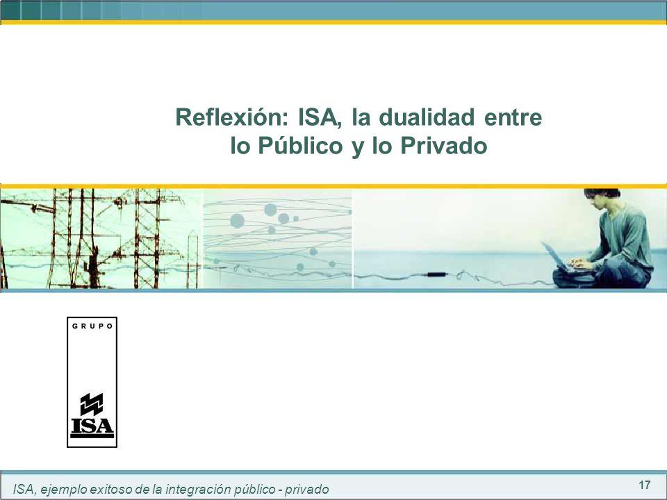 Reflexión: ISA, la dualidad entre lo Público y lo Privado