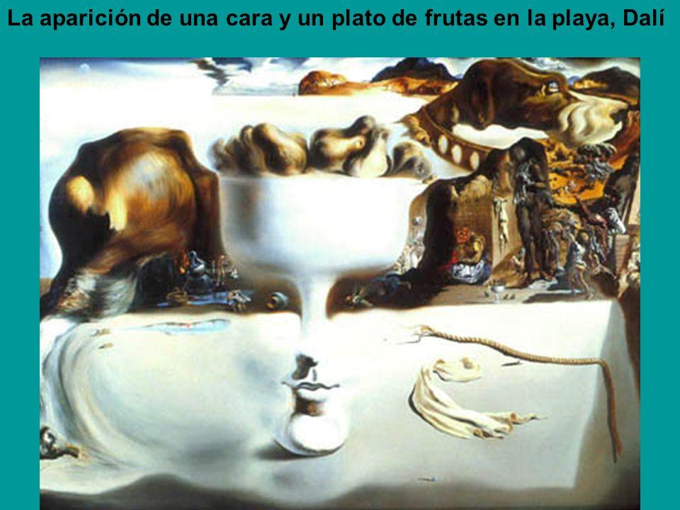 La aparición de una cara y un plato de frutas en la playa, Dalí