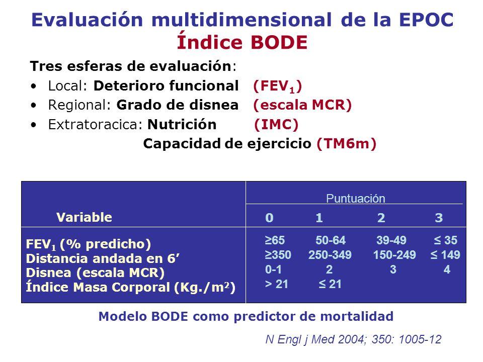 Evaluación multidimensional de la EPOC Índice BODE