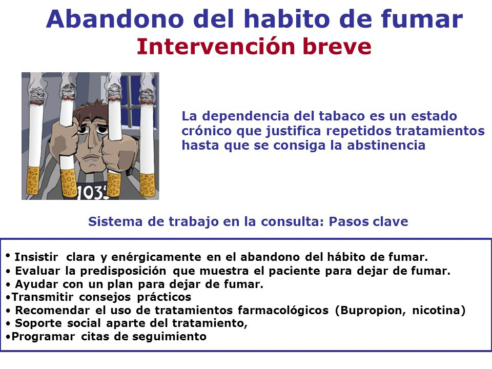 Abandono del habito de fumar Intervención breve