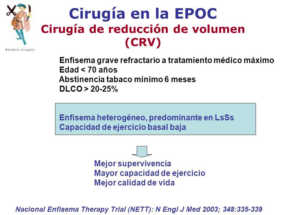 Cirugía en la EPOC Cirugía de reducción de volumen (CRV)