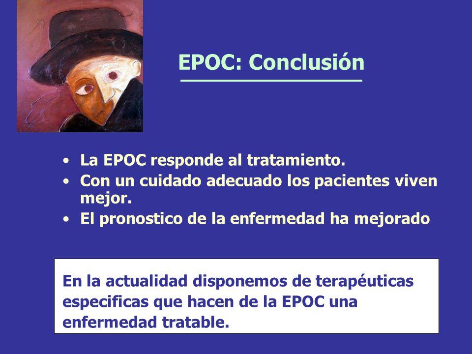 EPOC: Conclusión La EPOC responde al tratamiento.