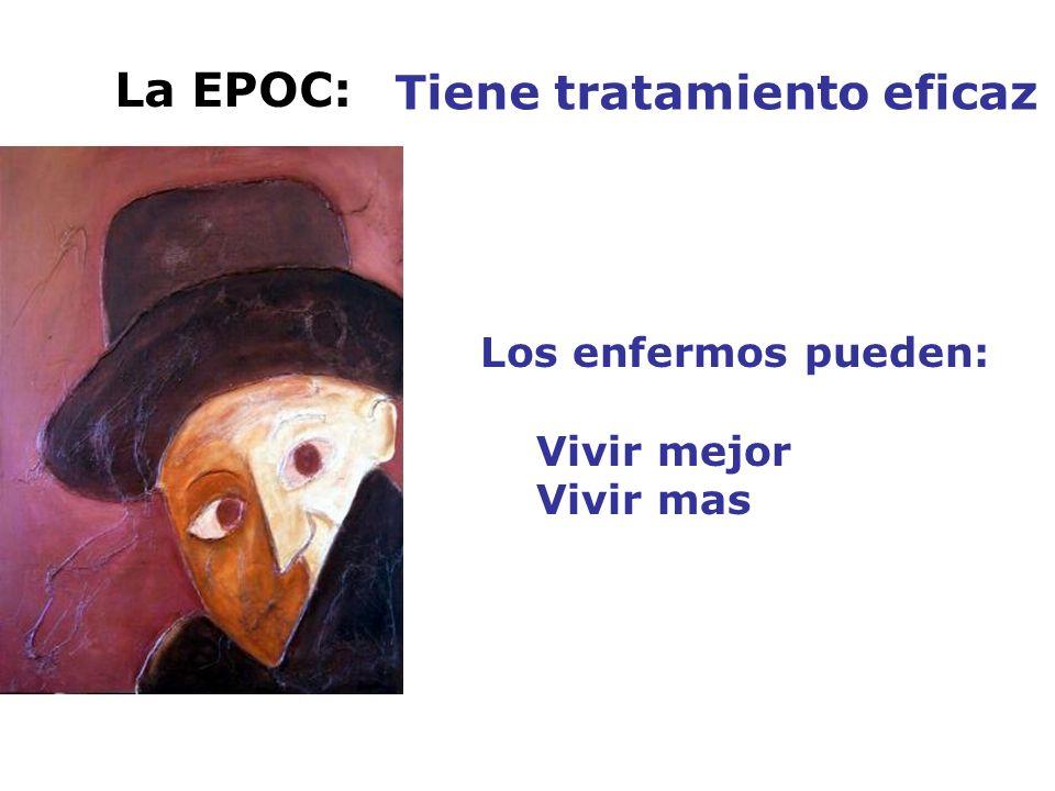 La EPOC: Tiene tratamiento eficaz Los enfermos pueden: Vivir mejor