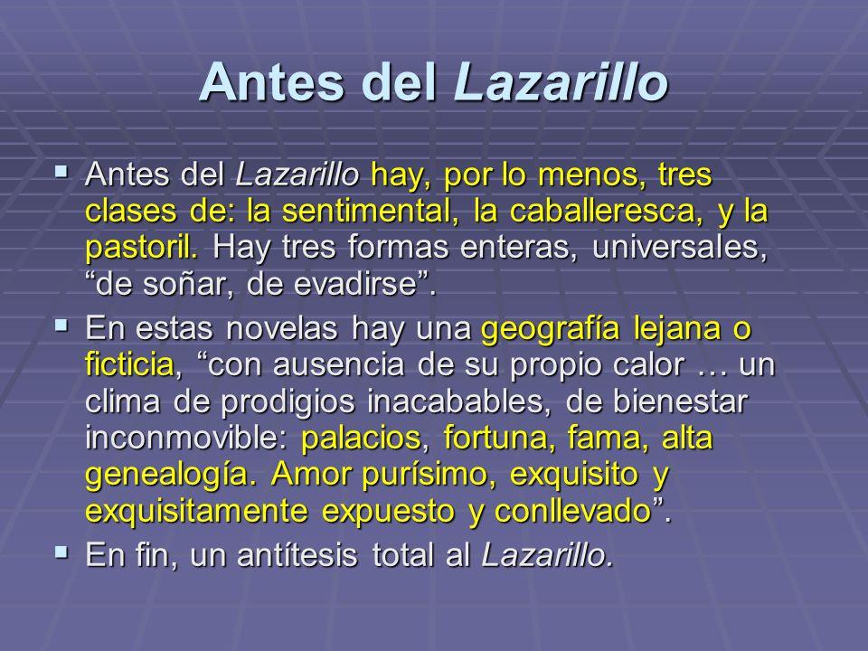 Antes del Lazarillo
