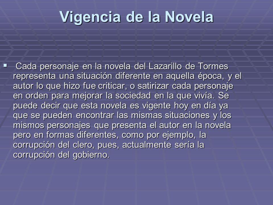 Vigencia de la Novela