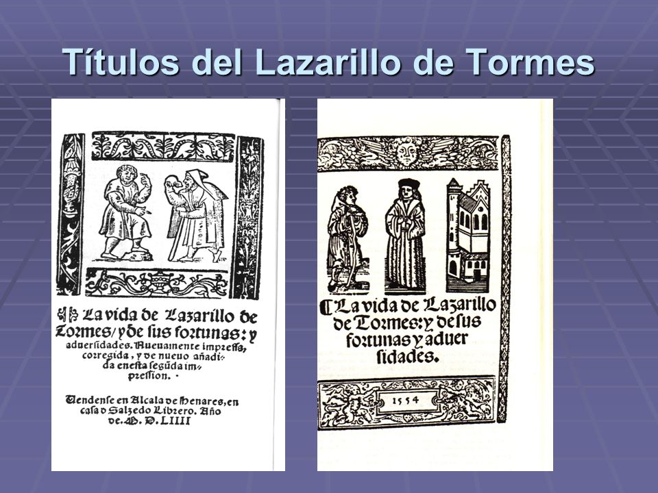 Títulos del Lazarillo de Tormes