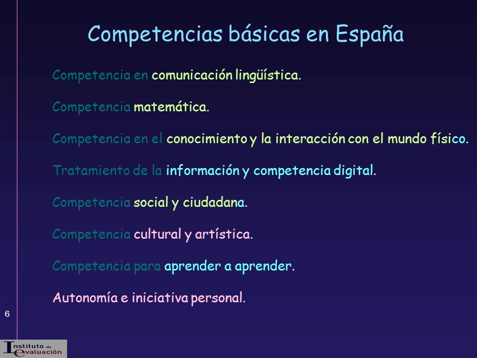 Competencias básicas en España