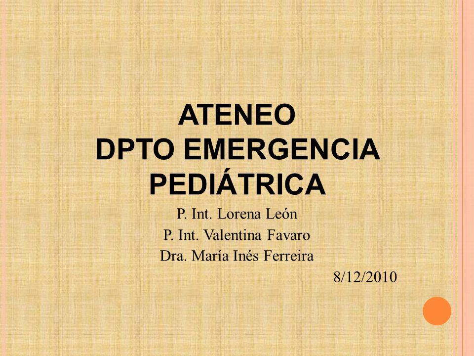 DPTO EMERGENCIA PEDIÁTRICA