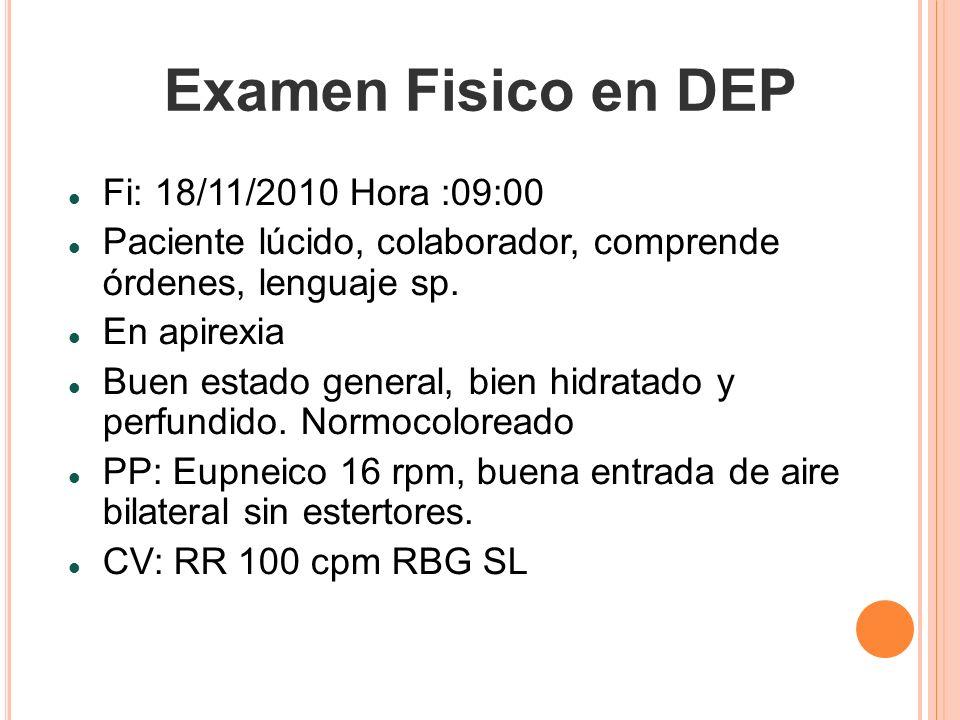 Examen Fisico en DEP Fi: 18/11/2010 Hora :09:00