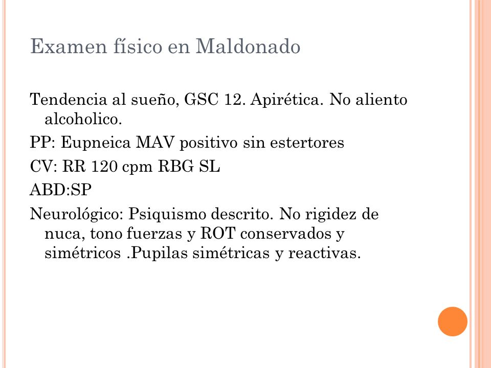 Examen físico en Maldonado