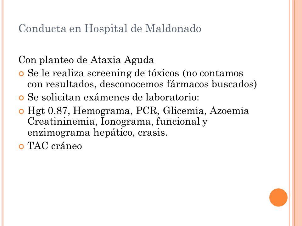 Conducta en Hospital de Maldonado