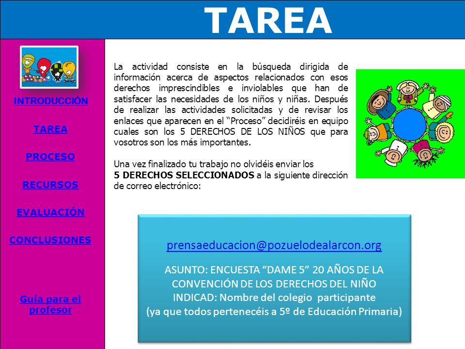 TAREA prensaeducacion@pozuelodealarcon.org