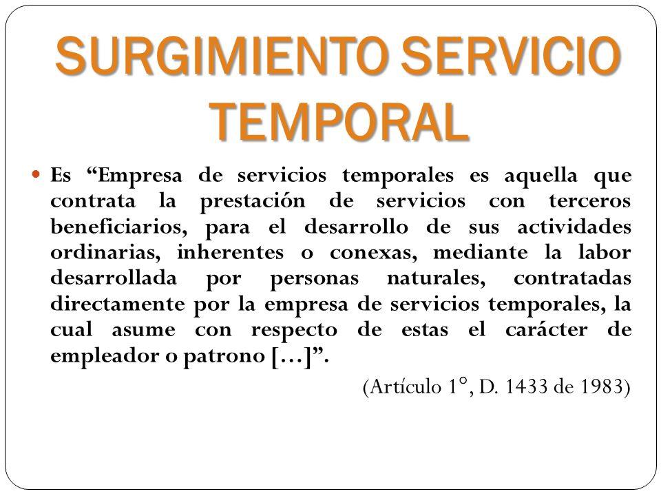 SURGIMIENTO SERVICIO TEMPORAL