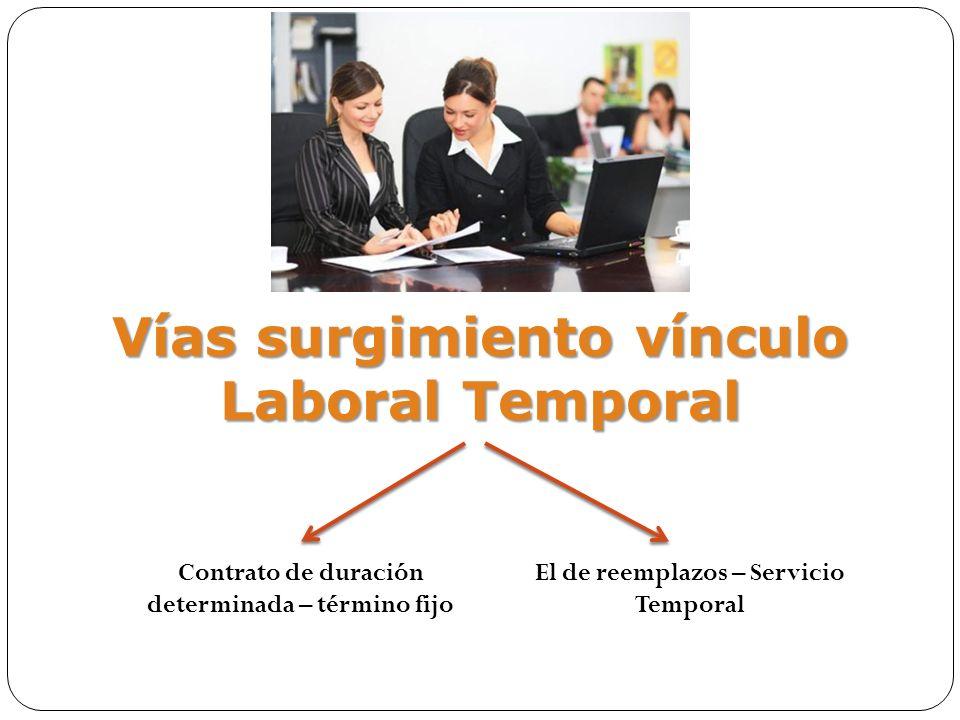 Vías surgimiento vínculo Laboral Temporal