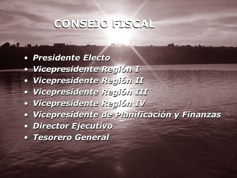 CONSEJO FISCAL Presidente Electo Vicepresidente Región I