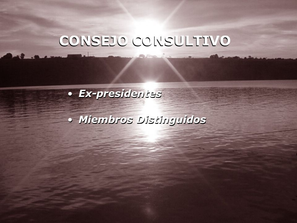 CONSEJO CONSULTIVO Ex-presidentes Miembros Distinguidos