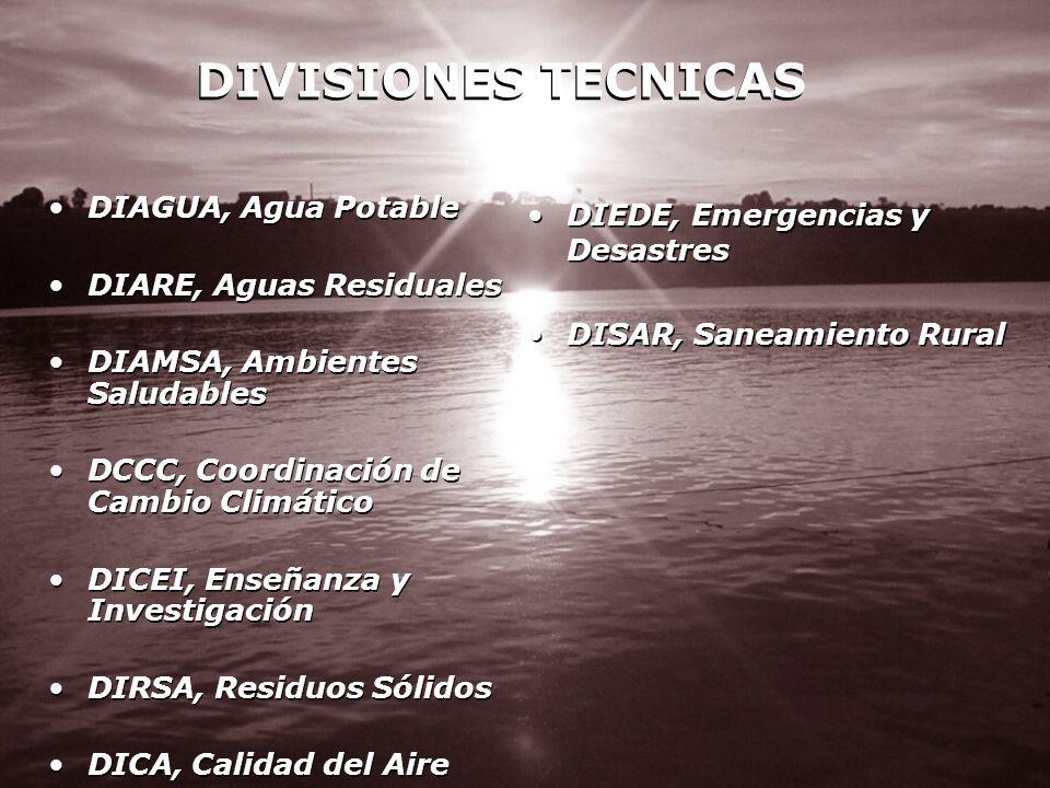 DIVISIONES TECNICAS DIAGUA, Agua Potable