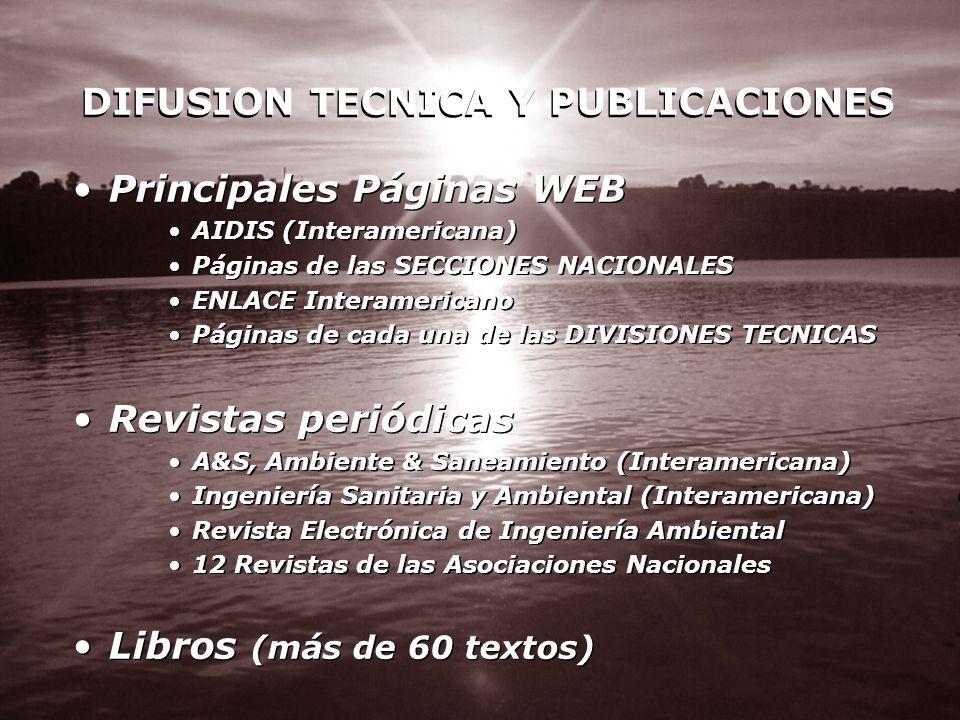 DIFUSION TECNICA Y PUBLICACIONES