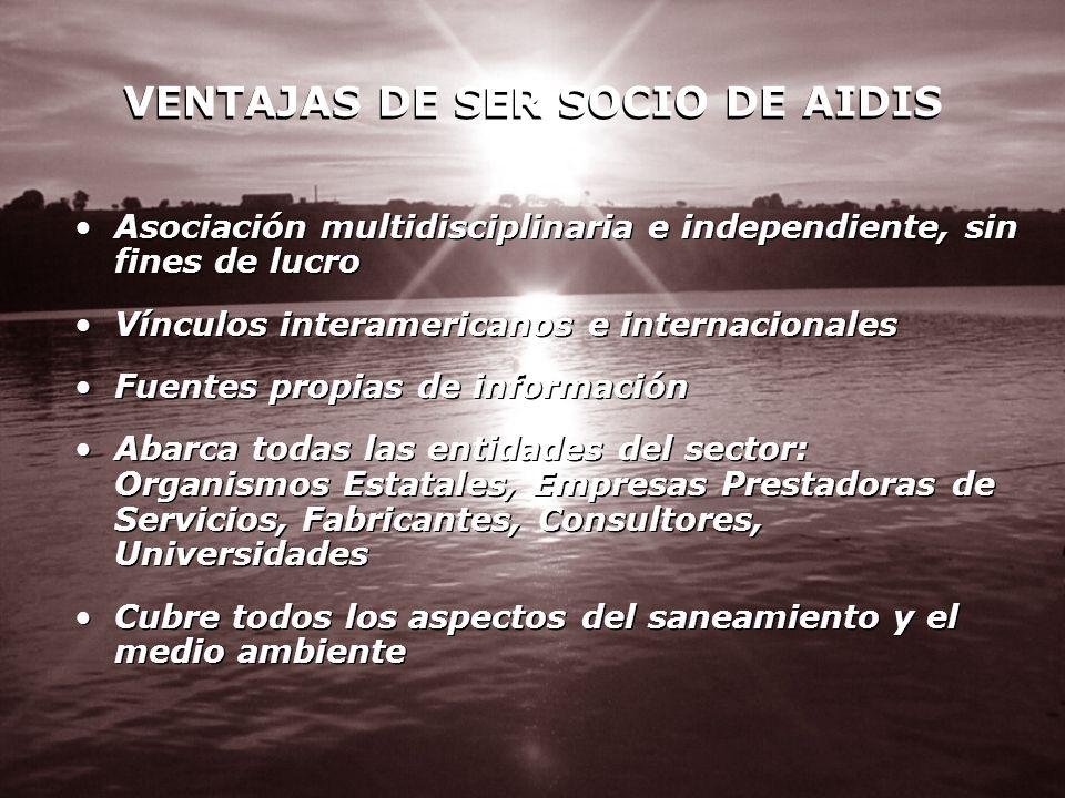 VENTAJAS DE SER SOCIO DE AIDIS