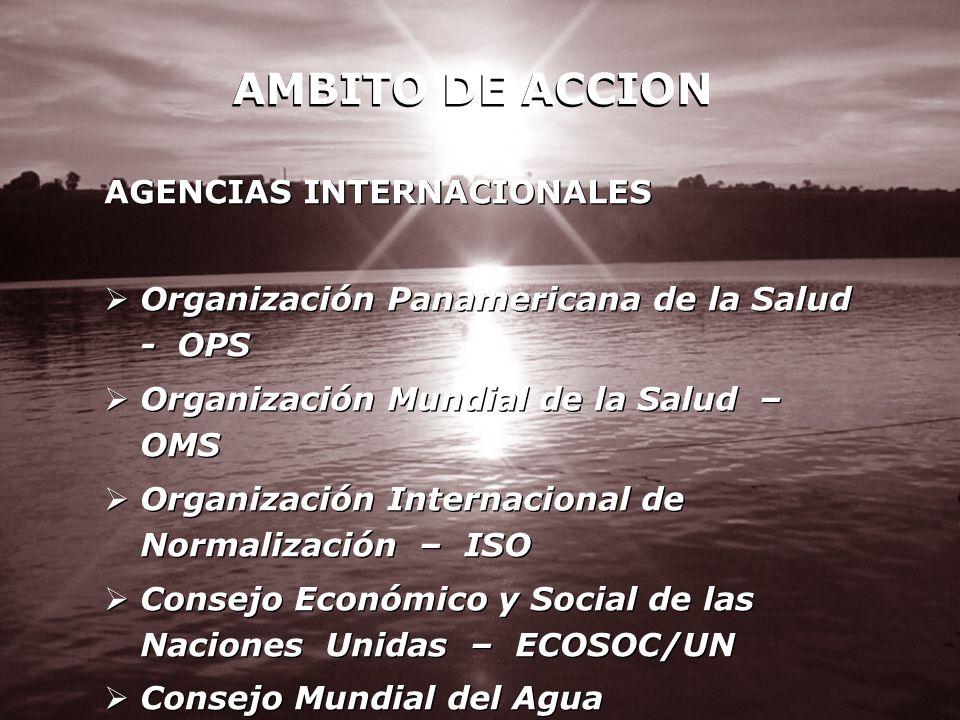 AMBITO DE ACCION AGENCIAS INTERNACIONALES