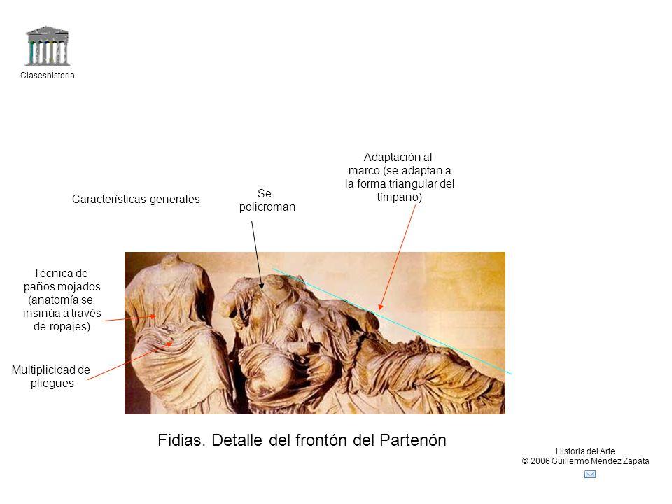 Fidias. Detalle del frontón del Partenón