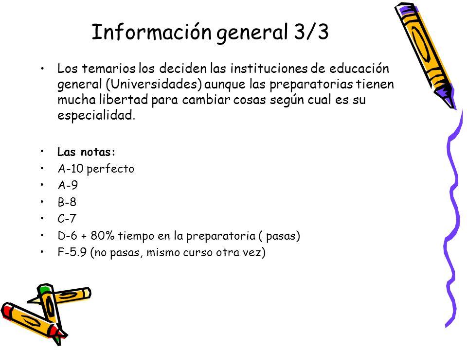 Información general 3/3