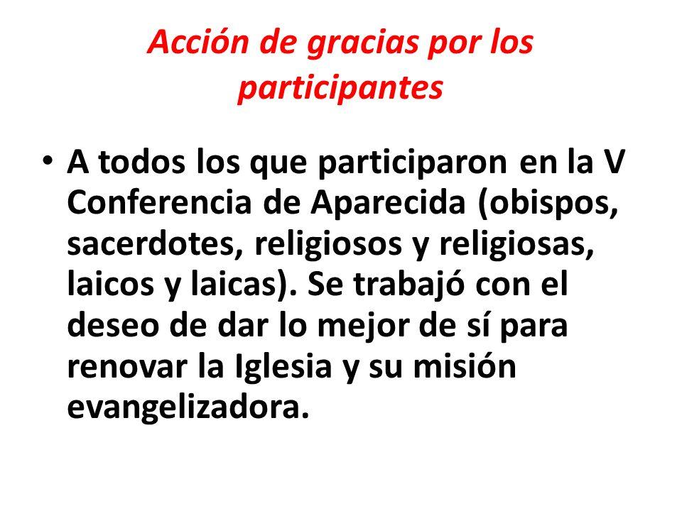 Acción de gracias por los participantes