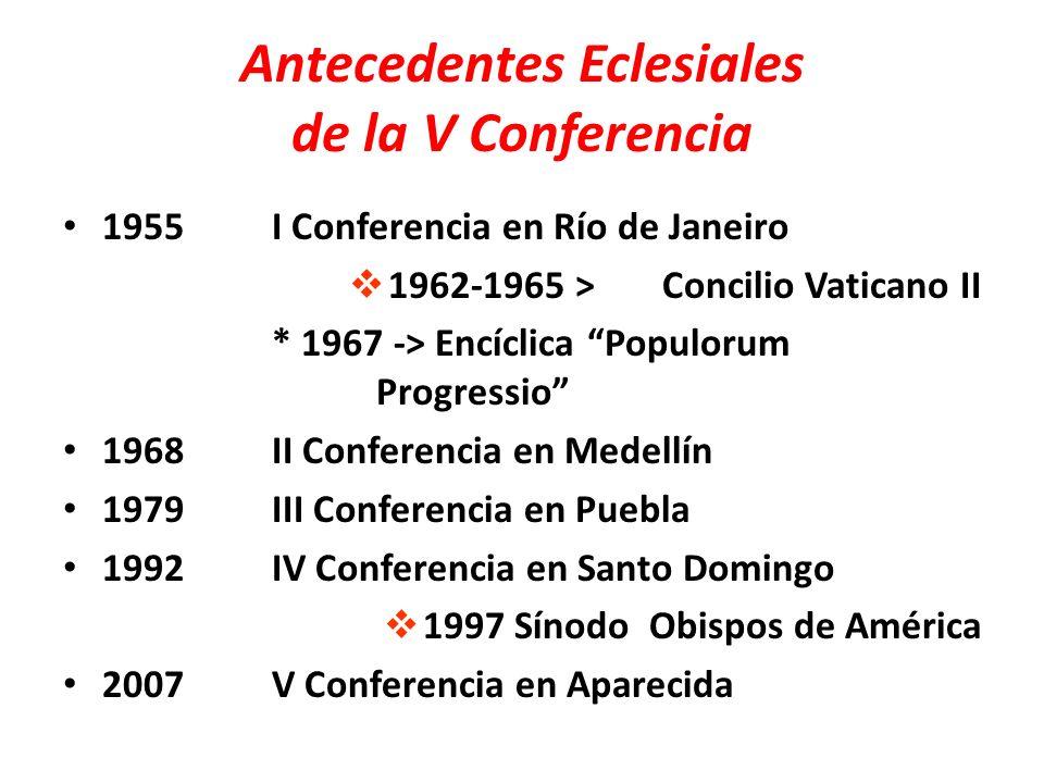 Antecedentes Eclesiales de la V Conferencia