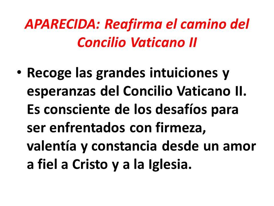 APARECIDA: Reafirma el camino del Concilio Vaticano II