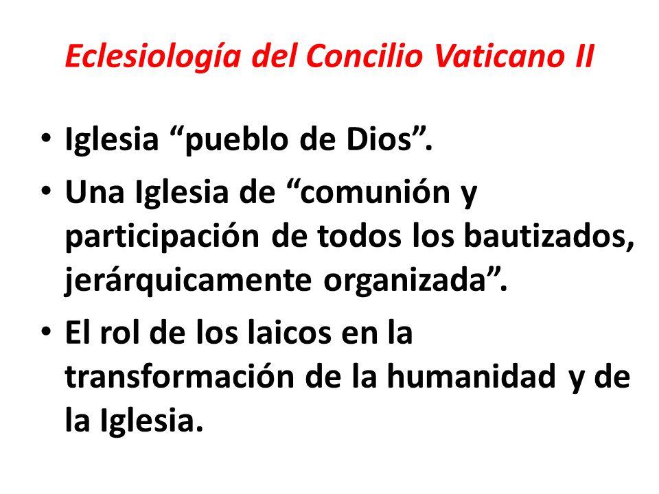 Eclesiología del Concilio Vaticano II