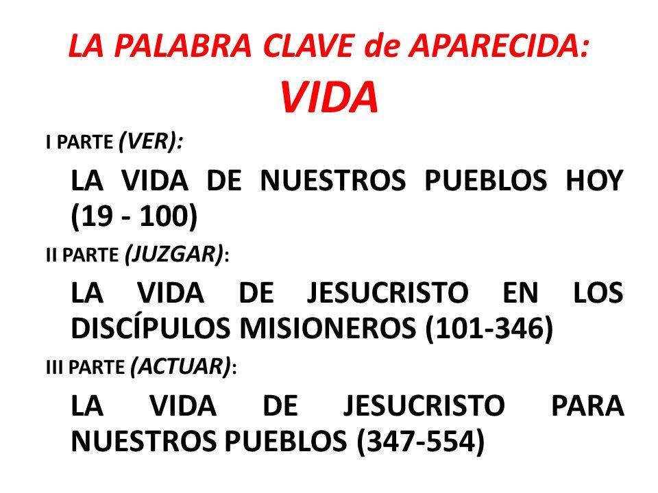 LA PALABRA CLAVE de APARECIDA: VIDA