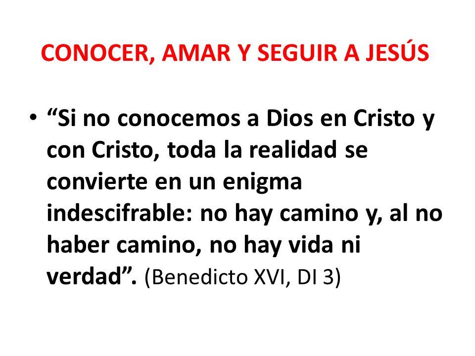 CONOCER, AMAR Y SEGUIR A JESÚS