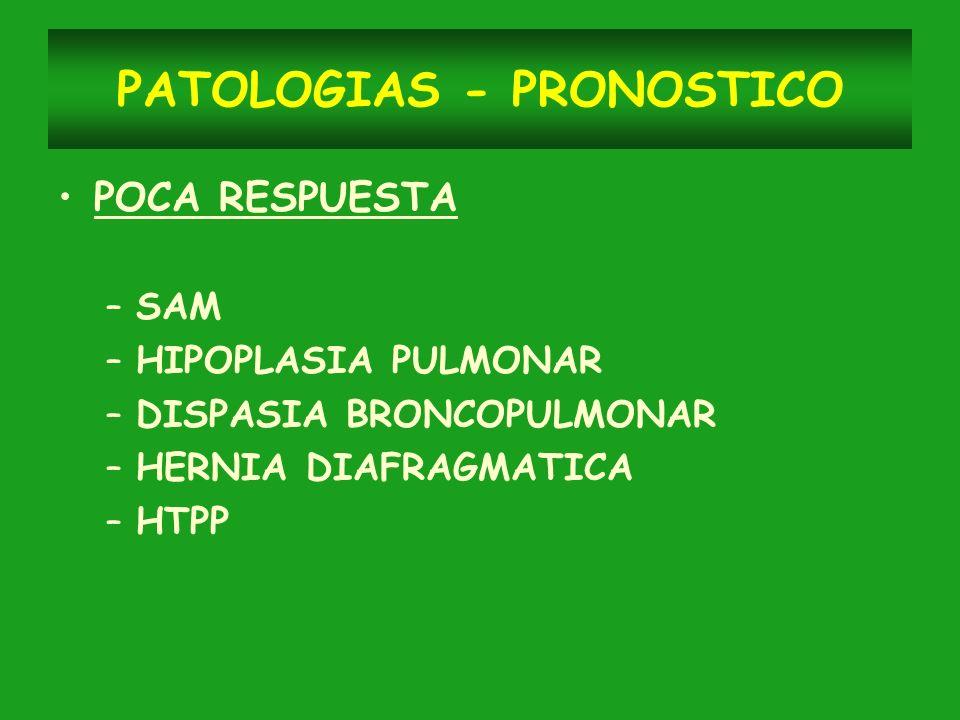 PATOLOGIAS - PRONOSTICO