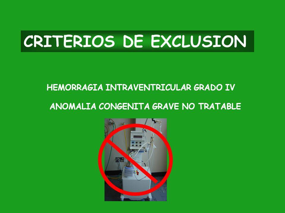 CRITERIOS DE EXCLUSION