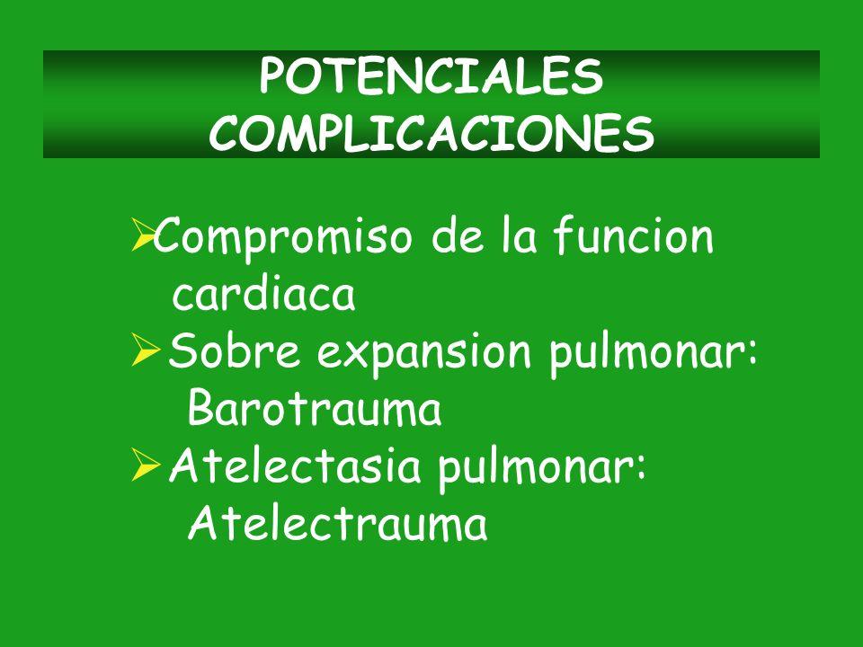 POTENCIALES COMPLICACIONES
