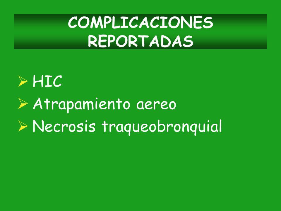 COMPLICACIONES REPORTADAS