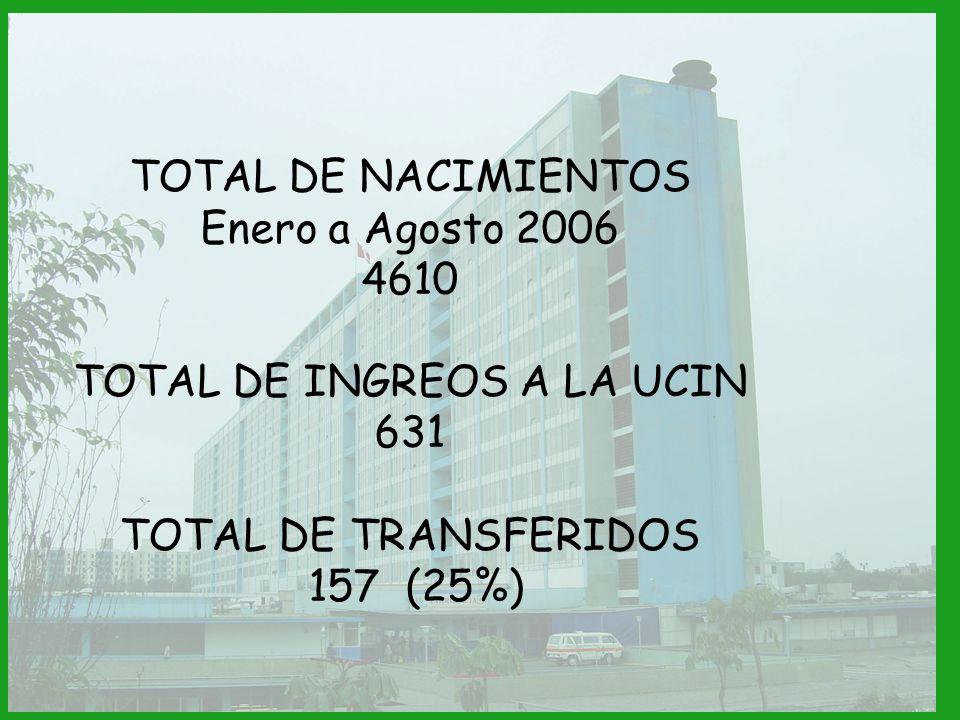 TOTAL DE INGREOS A LA UCIN
