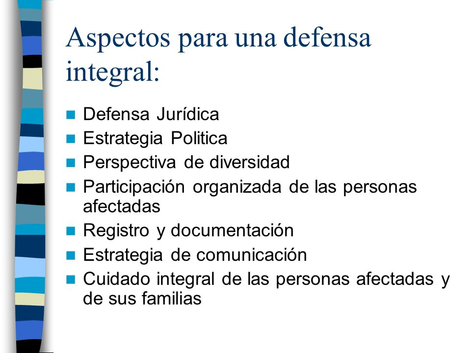 Aspectos para una defensa integral:
